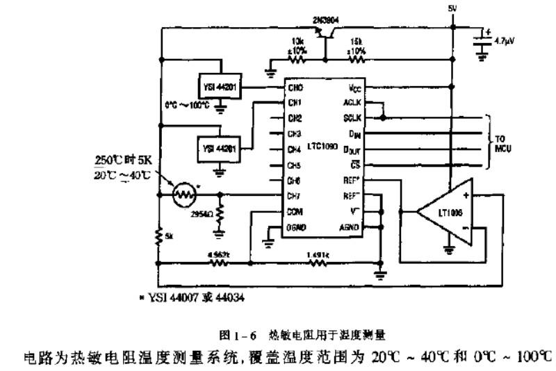 热敏电阻温度采集电路
