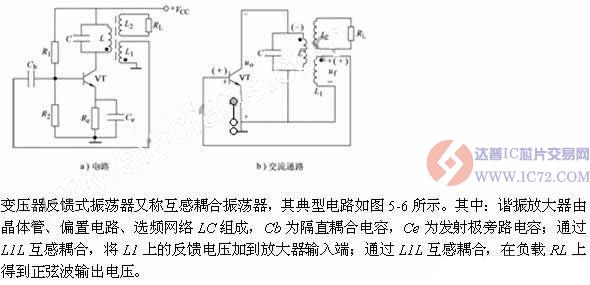 变压器反馈式振荡器原理及电路图