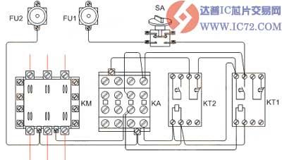 按时间的自动循环控制电路接线图