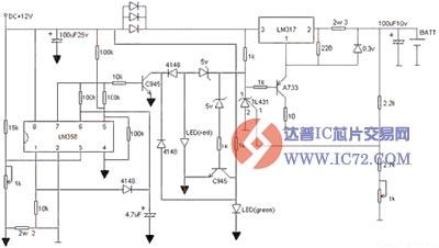 锂电池充电器制作电路图