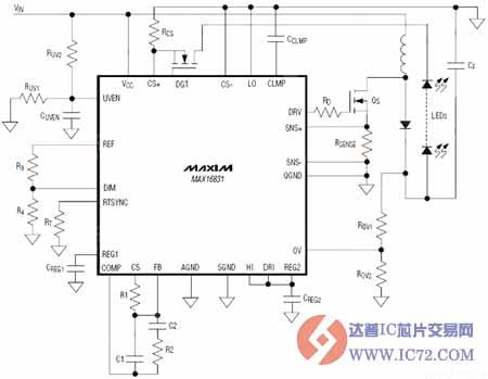 max16831主要参数及应用电路