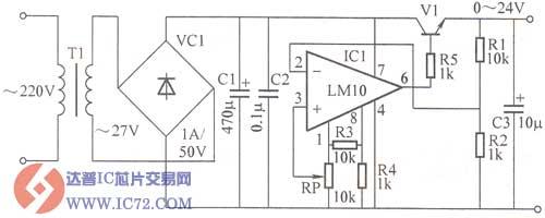 用lm10制作新型稳压电源电路图