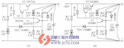 实用集电极输出稳压电源电路图